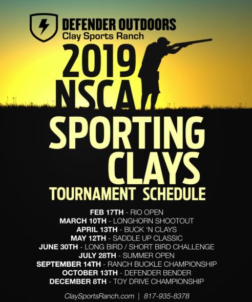 Fort Worth Calendar 2019 Defender Outdoors Clay Sports Ranch NSCA 2019 Event Calendar  Fort
